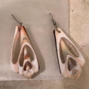 Conch shell ( luck bringer) earrings